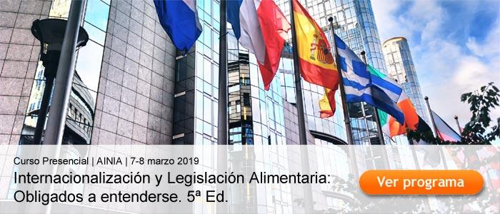 Internacionalización y Legislación Alimentaria: Obligados a entenderse. 5ª Ed. Valencia