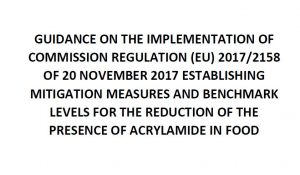 2018 jornada acrilamida guidance implementation commission acrylamide