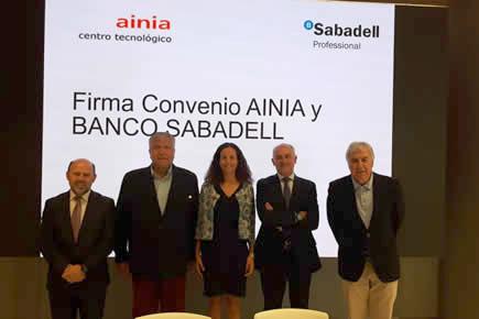 Firma Convenio AINIA y Banco Sabadell